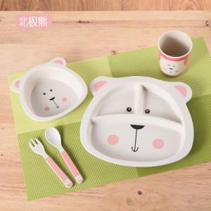 Набор детской посуды из 5 предметов арт. НД5,цвет: Белый медвежонок