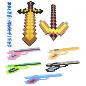 Набор игрушек MINECRAFT арт.ИГ14, мечи+пистолет