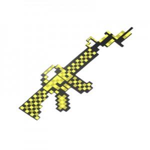 Игрушка MINECRAFT арт.ИГ14,цвет: Золотой пистолет пулемет