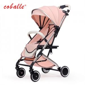Детская коляска Coballe арт.8, цвет: Розовый порошок