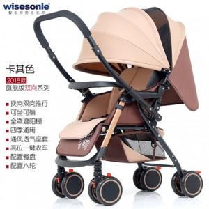 Детская коляска Wisesonie арт.9 , цвет: Хаки (перекидная ручка)