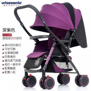 Детская коляска Wisesonie арт.9 , цвет: Deep Purple (перекидная ручка)