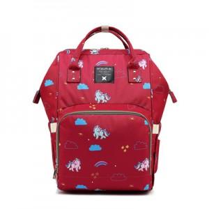 Рюкзак для мамы арт.Р366, цвет: Единорог Розовый Красный