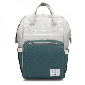 Рюкзак для мамы арт.Р367,цвет: Полосатый Зеленый