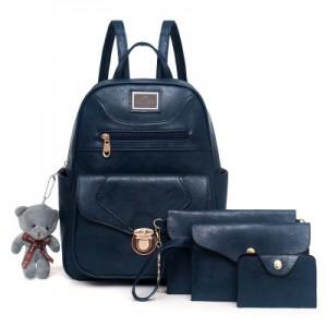 Рюкзак набор из 4 предметов арт.Р372,цвет:Синий