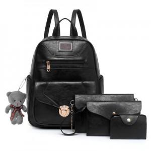 Рюкзак набор из 4 предметов арт.Р372,цвет: Черный