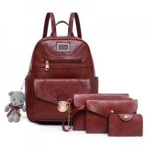 Рюкзак набор из 4 предметов арт.Р372,цвет: Коричневый