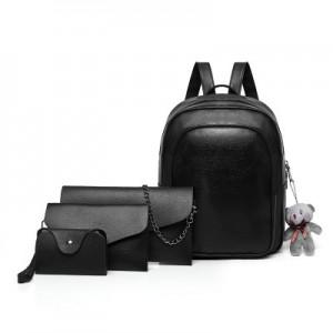 Рюкзак набор из 4 предметов арт.Р373,цвет: Черный