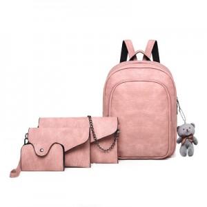 Рюкзак набор из 4 предметов арт.Р373,цвет: Розовый