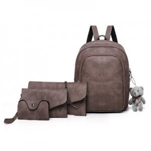 Рюкзак набор из 4 предметов арт.Р373,цвет: Коричневый
