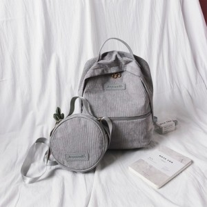 Рюкзак набор из 2 предметов арт.Р376,цвет: Серый