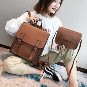 Рюкзак набор из 2 предметов арт.Р379,цвет: Светло-Коричневый