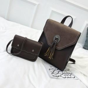 Рюкзак набор из 2 предметов арт.Р380,цвет: Кофе