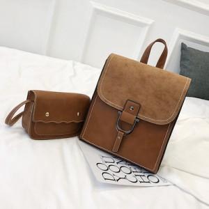 Рюкзак набор из 2 предметов арт.Р389,цвет: Коричневый