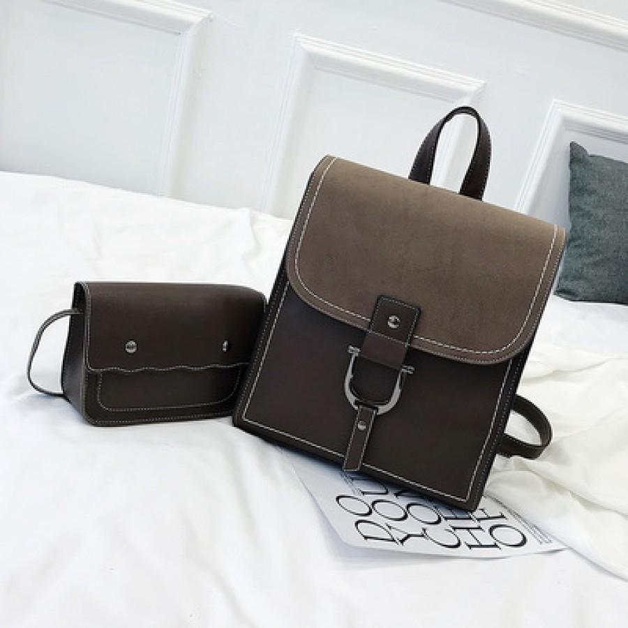 Рюкзак набор из 2 предметов арт.Р389,цвет: Темно-Коричневый