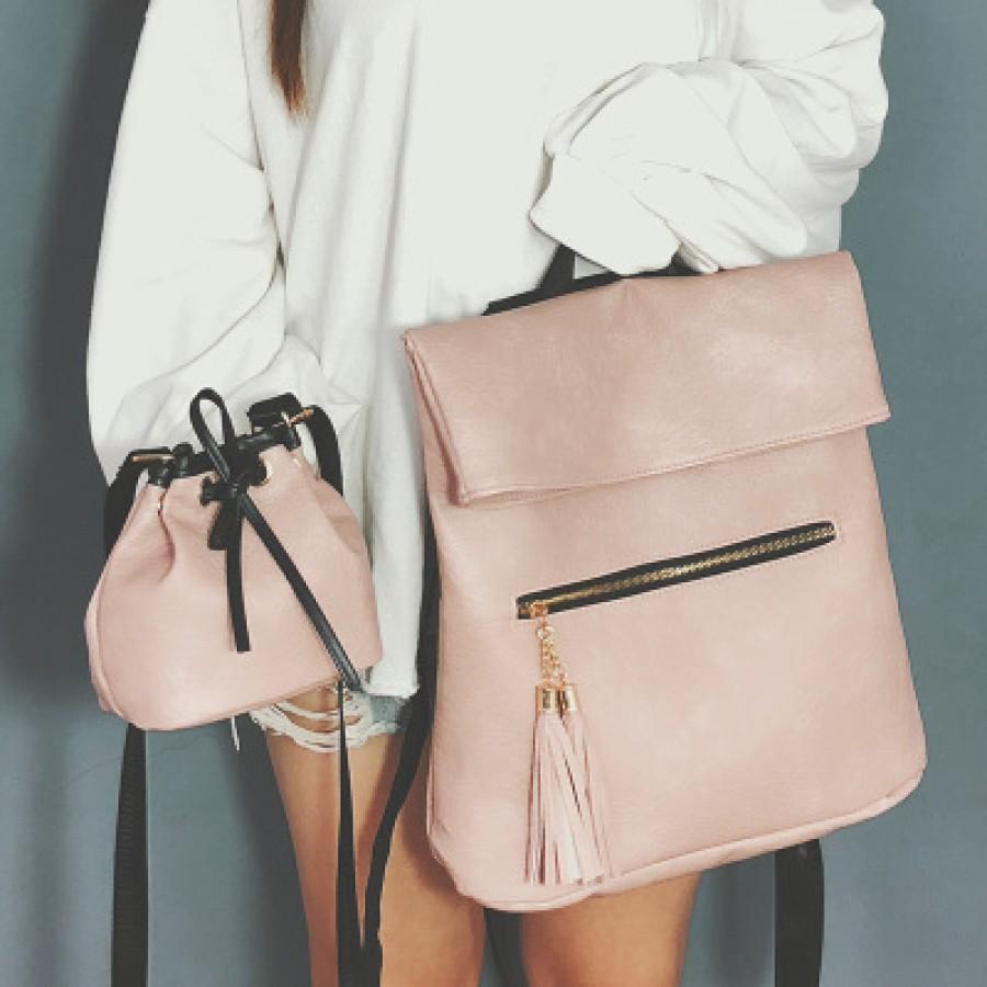 Рюкзак набор из 2 предметов арт.Р390,цвет: Розовый