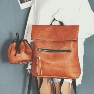 Рюкзак набор из 2 предметов арт.Р390,цвет: Коричневый