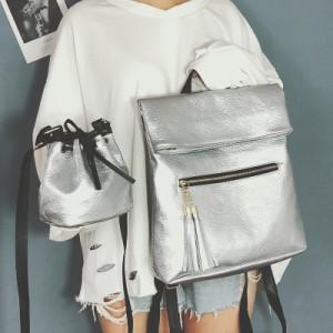 Рюкзак набор из 2 предметов арт.Р390,цвет: Серебро
