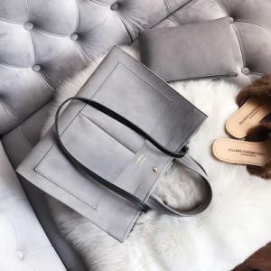 Набор сумок из 2 предметов арт.А567,цвет: Серый (сумка+косметичка)