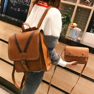 Рюкзак набор из 2 предметов арт.Р391,цвет: Светло-Коричневый
