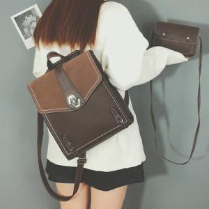 Рюкзак набор из 2 предметов арт.Р392,цвет: Темно-Коричневый