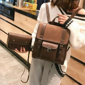 Рюкзак набор из 2 предметов арт.Р393,цвет: Коричневый
