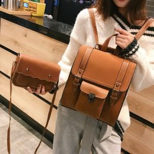 Рюкзак набор из 2 предметов арт.Р393,цвет: Светло-Коричневый