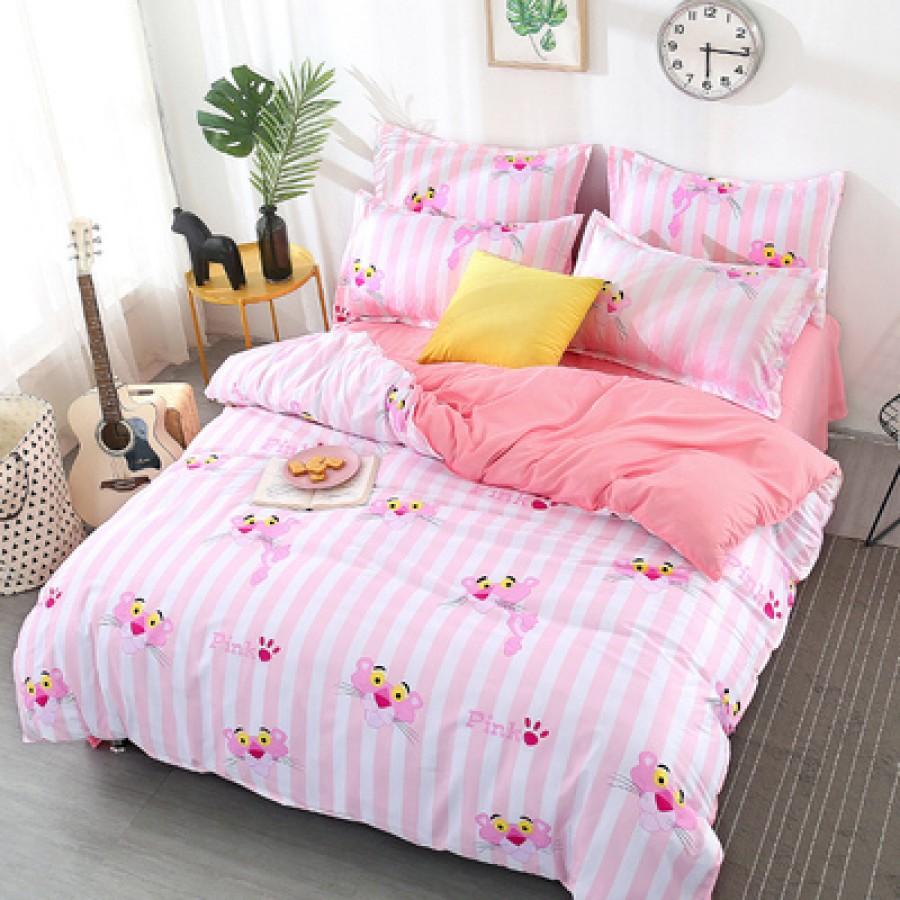 Постельный комплект арт.ПБ4,цвет: Полосатый розовый леопард