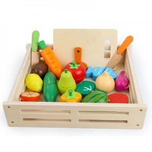 Овощи на магнитах в деревянном ящике арт.М17