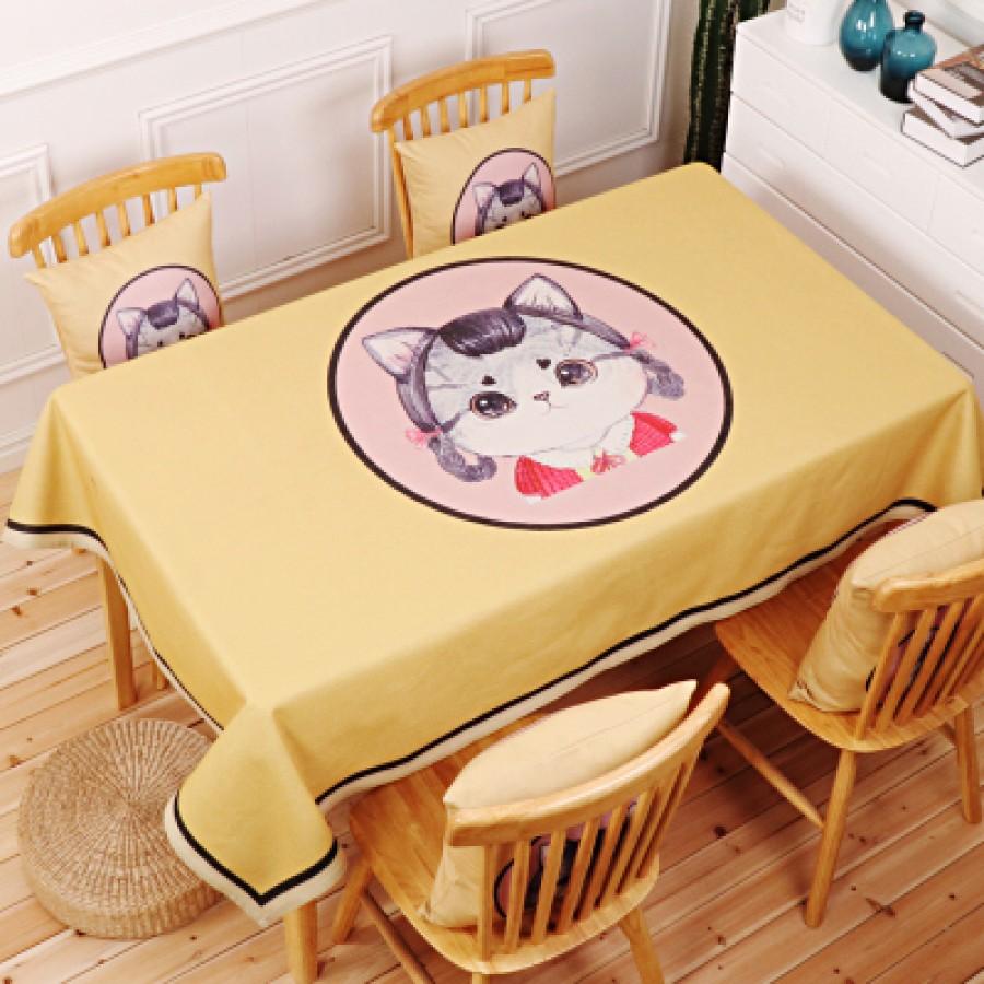 Скатерть хлопчатобумажная арт.СК01,цвет: Подростковая кошка