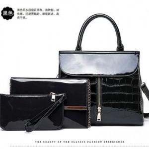 Набор сумок из 3 предметов арт.А569,цвет:Черный