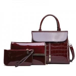 Набор сумок из 3 предметов арт.А569,цвет: Вино Красное