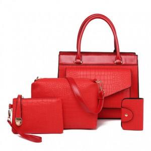 Набор сумок из 4 предметов арт.А571,цвет: Красный