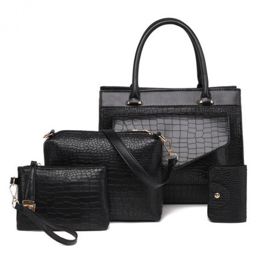 Набор сумок из 4 предметов арт.А571,цвет: Черный
