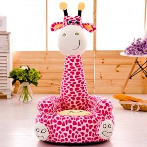 Детское кресло арт.ДМК01,цвет:Молочно-розовый Жираф