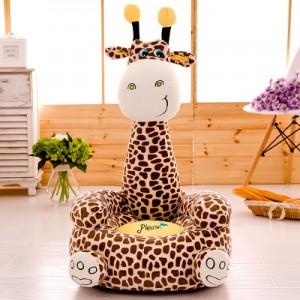 Детское кресло арт.ДМК01,цвет:Молочно-коричневый Жираф