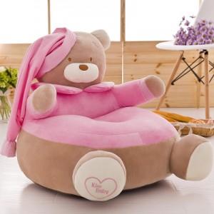 Детское кресло арт.ДМК01,цвет:Розовый Мишка