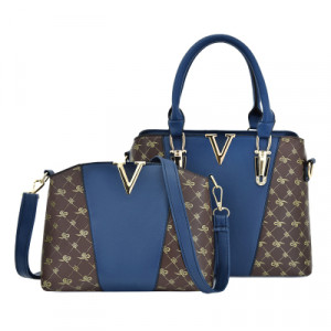 Комплект сумок из 2 предметов арт А474,цвет:синий
