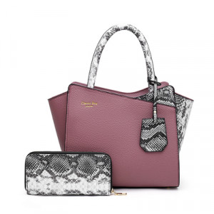 Комплект сумка и кошелек, арт А479 цвет: пурпурный