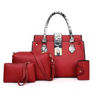 Комплект сумок из 4 предметов, арт А480 цвет:красный