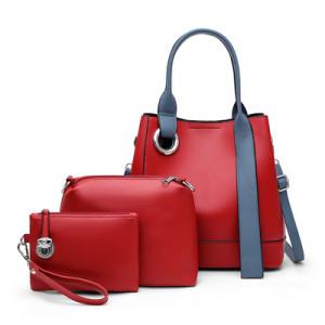 Комплект сумок из 3 предметов, арт А481 цвет:красный