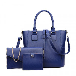 Набор сумок из 3 предметов арт А259 модель Узор крест синий