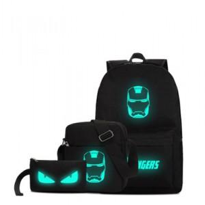Набор рюкзак 3 в 1 арт Р172 Желеный человек №1