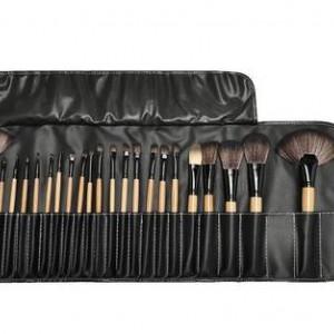 Кисти для макияжа цвет: черный набор 24 штуки