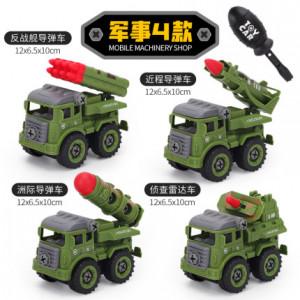 Набор из 4 машинок на шурупах,военные арт ОГ116