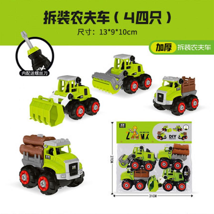 Набор из 4 машинок на шурупах,фермерские арт ОГ116