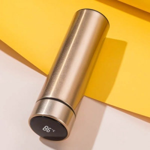 Термос с дисплеем, арт ПП1,цвет: золото