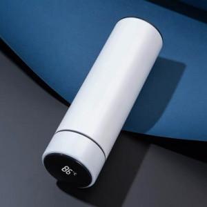 Термос с дисплеем, арт ПП1,цвет: белый