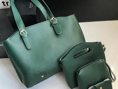 Комплект сумок из 4 предметов арт А418,цвет:зеленый