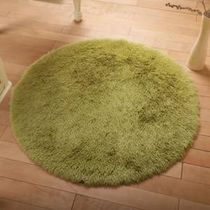 Меховые ковры КРУГЛЫЕ арт КВ40 толщина 4 см, цвет:трава зеленая